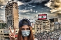 تسريحات جميلات لبنان في التظاهرات 1