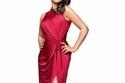 قصات وتسريحات منة شلبي بفستان أحمر جذاب