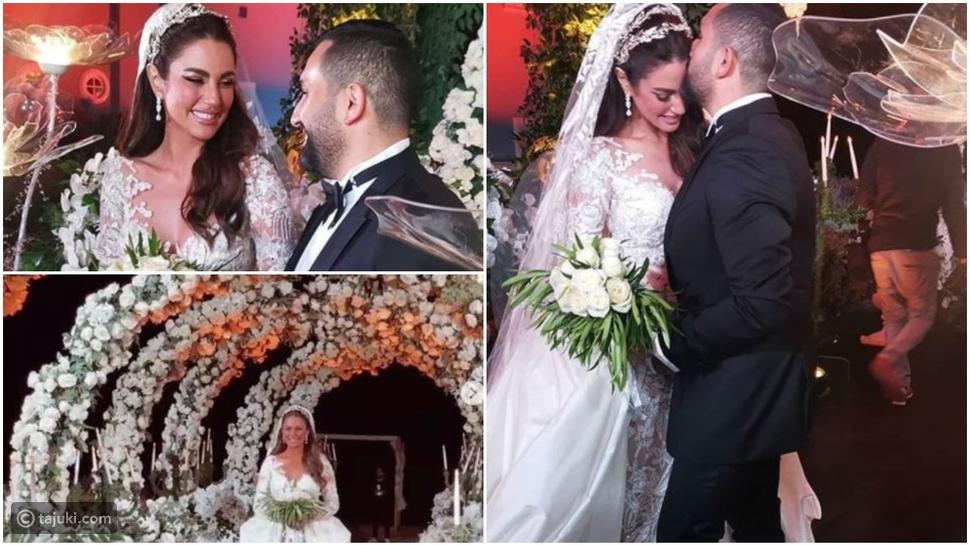 تسريحات النجمة درة مع زوجها رجل الأعمال المصري هاني سعد