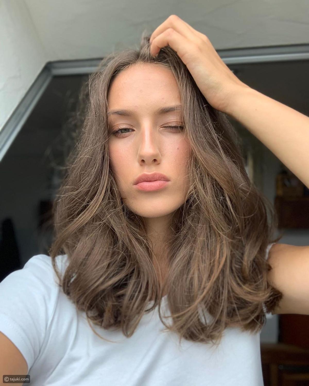 قصات شعر متوسط الطول تاجك