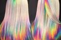 صبغات شعر للهالوين بألوان متداخلة