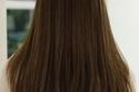 تسريحة شعر ناعمة مستقيم مفرود