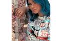 صبغات شعر جديدة على طريقة زينب غازي - شعر كري باللون الأزرق المخصل