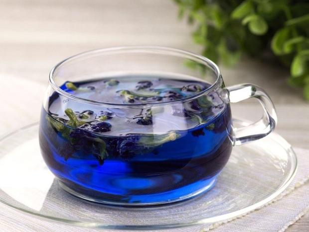 فوائد الشاي الأزرق للشعر