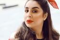 تسريحات شعر شيماء علي بربطة شعر حمراء