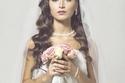 تسريحات شعر زواجات - كلاسيك على شعر طويل مميز جداً