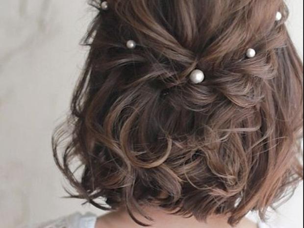 تسريحات زفاف لعروس عيد الفطر ذات الشعر القصير
