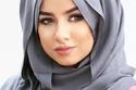 حجاب  بلفة مزدوجة