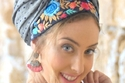 حجاب التربون مع غرة جانبية