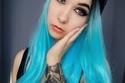 صبغات شعر أزرق- اللون الفاتح من الأزرق على كامل الشعر الناعم