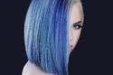 صبغات شعر أزرق