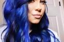 صبغات شعر أزرق - اللون الداكن المائل لللنفسجي