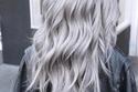 شعر رمادي مموج