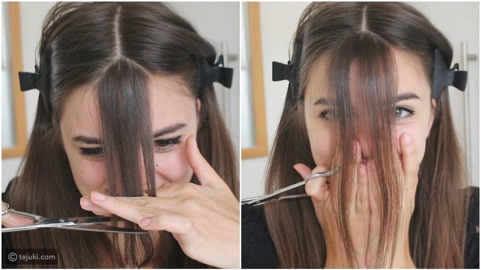 5 خطوات لقص غرة الشعر بنفسك في البيت