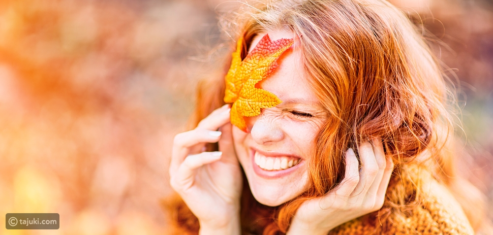 الشعر الجاف في الخريف