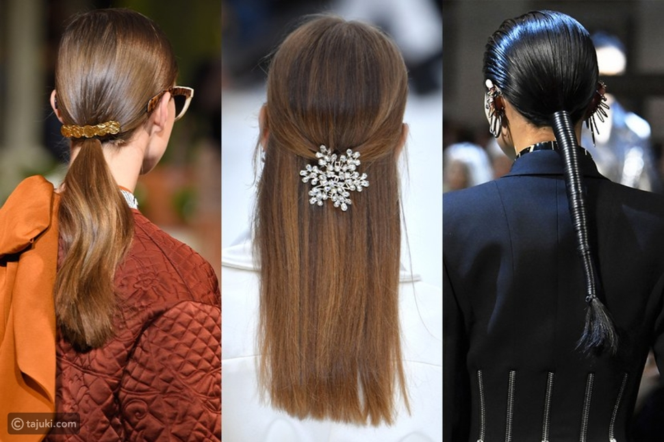 إضافة اكسسوارات الشعر المتنوعة من صيحات تسريحات شتاء 2019/ 2020